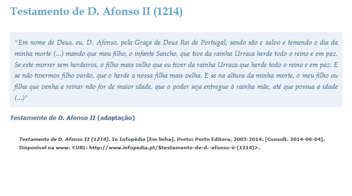 Testamento D. Afonso II